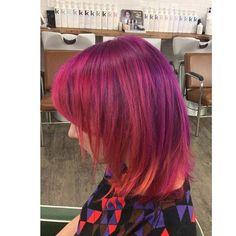 Cut Splice Boston - pink and purple hair
