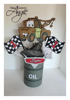 SCRAPPIN MEMORIES: Disney cars centerpieces You are in the right place about cars for women Here we offer you the most beautiful pictures about the ca Disney Centerpieces, Birthday Party Centerpieces, Vintage Centerpieces, Car Themed Parties, Cars Birthday Parties, 2nd Birthday, Birthday Ideas, Piñata Cars, Jeep Cars