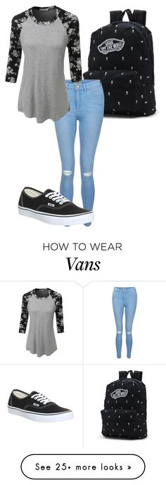 """""""Sem título #439"""" by anna-diva-clara on Polyvore featuring Vans, New Look and LE3NO"""