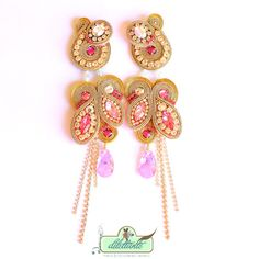 Soutache Earrings by DILETTANTEsoutache.deviantart.com on @deviantART