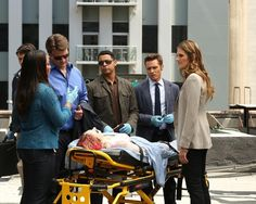 Lanie, Castle, Esposito, Ryan and Beckett in Watershed