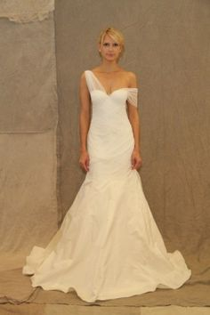 Lela Rose Spring 2013 - I would like to see this styled with the illusion strap up. Similar look to Holly Branson's wedding dress with more intricate detail