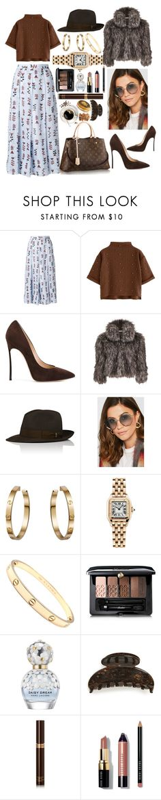 """""""The Week Ahead Looks Good"""" by pulseofthematter ❤ liked on Polyvore featuring Marni, Casadei, Louis Vuitton, Gina Bacconi, Chloé, Cartier, Guerlain, Marc Jacobs, France Luxe and Tom Ford"""