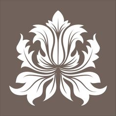 Wall Stencil damask design element 2.8 flourish wallpaper image is approx. 7.5 x 7.5 inches. $9.95, via Etsy.