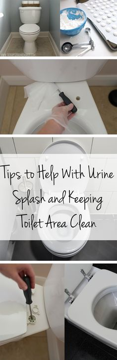 Tips to Help With Urine Splash and Keeping Toilet Area Clean