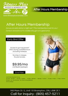 After Hours Membership Are you an early bird or a night owl ? This membership is just for you ! Come in and work out in a ladies only gym at a great price. After Hours, Beauty Spa, Night Owl, Early Bird, Fun Workouts, Swimming Pools, Just For You, Weight Loss, Gym