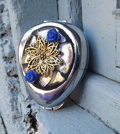 Mosaic Flower Pill Box Earring Box Trinket by PiecesofhomeMosaics