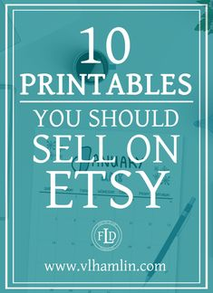People love printable designs because they get instant gratification and there are so many printables you can sell on Etsy! Plus, Etsy makes it really easy to get started, too. Etsy Business, Craft Business, Business Tips, Online Business, Creative Business, Business Leaders, What To Sell, Make And Sell, How To Make