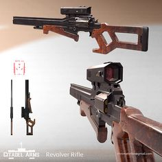 Although somewhat impracticable, this revolver rifle packs a punch.