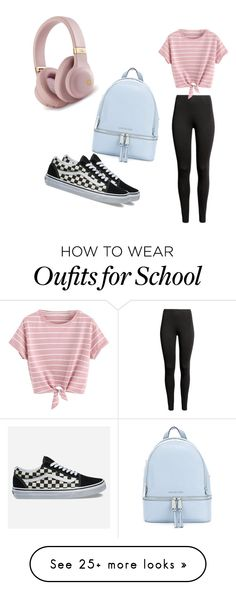 """School?"" by mackenzie-strand on Polyvore featuring MICHAEL Michael Kors and Vans"