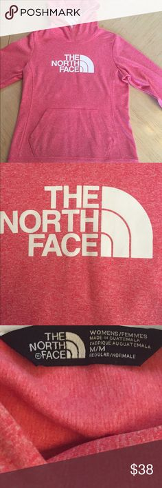 🎉Sale🎉🎉Women's Snowcone Red North Face Hoodie Snow Cone Red & White North Face Hoodie. Very pretty, red with a white undertone. Which makes it almost a pinkish or peachy color, depending on lighting . In Very Good condition The North Face Tops Sweatshirts & Hoodies