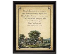 Irish Blessing 16x20 Giclee Print by QuailHollowGallery on Etsy