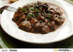 Jelení guláš s houbami recept - TopRecepty.cz Venison, Beef, Cooking, Health, Food, Deer Meat, Meat, Kitchen, Game