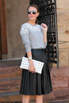 7 Fantastiche Immagini Su Pleated Midi Skirt Outfit Nel