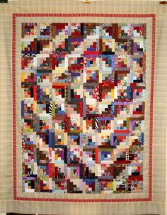 T-Log Cabin Spiral by Linda Rotz Miller Quilts & Quilt Tops, via Flickr
