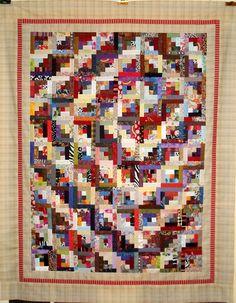 T-Log Cabin Spiral by Linda Rotz Miller Quilts & Quilt Tops, via Flickr