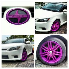 Scion tc - with a splash of purple! Scion Tc, Scion Cars, Honda Accord, Car Accessories For Guys, Cars Birthday Parties, Tuner Cars, Toyota Cars, Range Rover Sport, Car Tuning