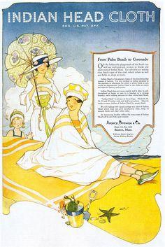 Indian Head Fabrics ad by Marjory C. Woodbury,...