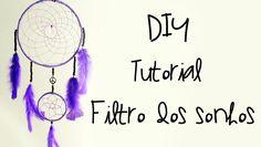 DIY: Como Fazer um Filtro dos Sonhos (Purple Dreamcatcher Tutorial)