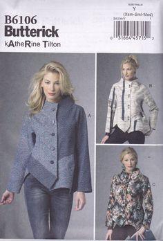 Butterick Sewing Pattern Misses' Katherine Tilton Jacket Sizes Xsm - Xxl B6106 #Butterick