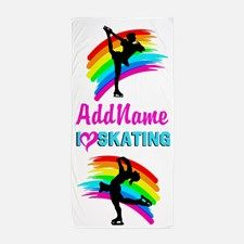 Number 1 Skater Beach Towel Calling all Skaters! The best selection of personalized Figure Skating Tees and Gifts. Shop and Save. Take 20% Off Your Order Use Code: BEADS20  http://www.cafepress.com/sportsstar/10189550 #Figureskater #FigureSkating #Iloveskating #Borntoskate #Personalizedskater