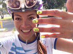 Swim Bike & Run Triathlon nails