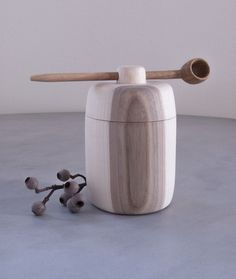Løvfall - Ash and oak spoon