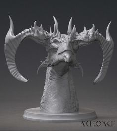Hey all, I am really happy to show You the additional Horn option for my Thrannox Dragon Bust. Thrannox with the horn variants will be available soon in the Artefakt miniatures store! It was great fun coming up with a different character for this bust Dragon Horns, Dragon Face, Dragon Head, Anime Fantasy, Fantasy Art, Legendary Monsters, Zbrush, Beast Creature, Dragon Rider