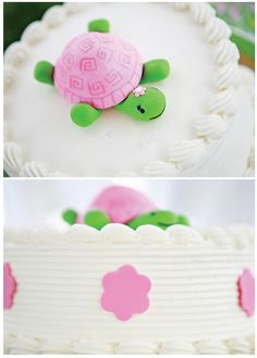 fondant turtles | Could that fondant turtle be ANY CUTER? Custom made by Two Sugar ...