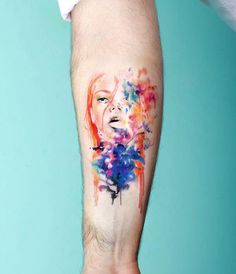 Portrait watercolor tattoo - 65  Examples of Watercolor Tattoo  <3 !