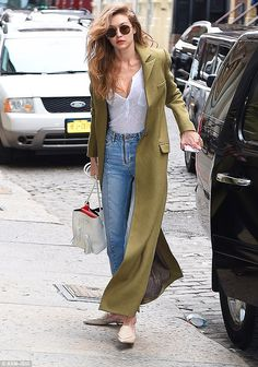 Step into supermodel jeans like Gigi in Sandro #DailyMail  Click 'Visit' to buy now