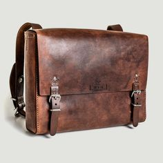 The Goodstead Satchel. Hand stitched eco leather bag