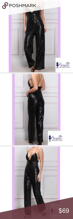 Sequin jumpsuit Lightweight comfortable yet very sexy jumpsuit. Jazz up your wardrobe with this lovely item. Purple Keys Styles Pants Jumpsuits & Rompers