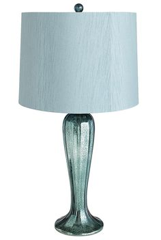 Teal Shimmering Glass Lamp