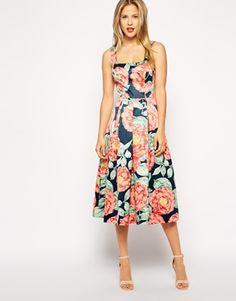 Enlarge ASOS Structured Midi Dress in Vintage Floral