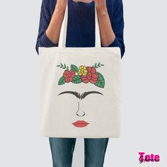 Frida Kahlo tote bag-Frida tote bag-graphic tote-cool tote-Christmas gift-women tote-shopping tote-quote tote-library tote-GLAMOUR TOTE-GT38