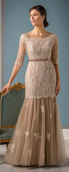 Elegant Tulle Bateau Neckline Mermaid Mother of the Bride Dresses With Lace Appliques