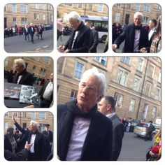 Richard Gere in Glasgow to attend the premiere of his film 'Time out of Mind'