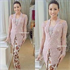 Kebaya Vera Kebaya, Batik Kebaya, Batik Dress, Lace Dress, Dress Brokat Modern, Kebaya Modern Dress, Kebaya Dress, Kebaya Jawa, Model Kebaya Modern