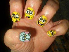 Eğlenceyi tırnaklarınıza taşıyın:) #spongebob #beauty #cosmetic #funny #eglence #cosmohome