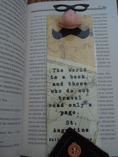 Nose Stuck in a Book :) Bookmark Ideas, Man Page, Arts And Crafts, Paper Crafts, Bookmarks, Best Quotes, Bookends, Boards, Inspirational Quotes