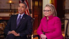 "US President Obama and Secretary of State Hillary Clinton addressed their evolution from opponents to political partners in a ""60 Minutes"" interview that aired Sunday. (via CBS News)"