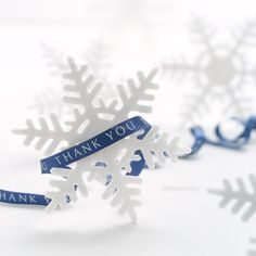 雪の結晶とリボン (c)visual supple /amanaimages