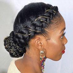 Cabello Afro Natural, Pelo Natural, Natural Hair Updo, Natural Hair Styles, Natural Protective Hairstyles, Natural Cornrow Hairstyles, Natural Protective Styles, Natural Hair Wedding, Black Hair Updo Hairstyles