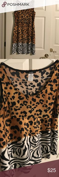 Super Cute Animal Print Dress! Soft and stretchy. Excellent condition!😍 Dresses