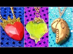 DESCENDANTS 2 EVIE, MAL, UMA | DIY Necklaces - YouTube