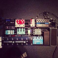 Stu G pedalboard for Paul Baloche 2014 Asia Tour