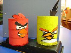 Angry birds rojo y amarillo portalápices