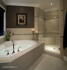 Dream Bathrooms 17099673573989749 - We all dream of huge bathtubs like this. Throw in a large shower with a shower seat and you have the luxurious spa you have always wanted in your master bathroom. Luxury Master Bathrooms, Dream Bathrooms, Beautiful Bathrooms, Master Baths, Master Bedrooms, Small Bathrooms, Spa Master Bathroom, Basement Master Bedroom, Romantic Bathrooms