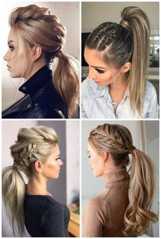 Love hair up and a formal event, it& nice to think of something more elaborate right? Today I brought 10 Inspirations Hairstyles for Party with Ponytail 2 Braids Hairstyles, Fast Hairstyles, Easy And Beautiful Hairstyles, Viking Hair, Hair Creations, Love Hair, Pixie Haircut, Bridesmaid Hair, Hair Looks